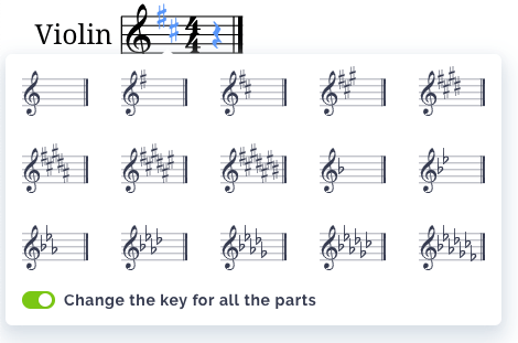 Change a key signature