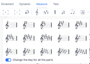 Add a new key signature
