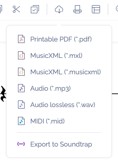 Export file as MP3