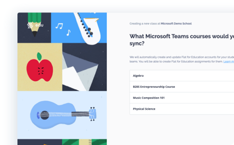 Flat with Microsoft Teams