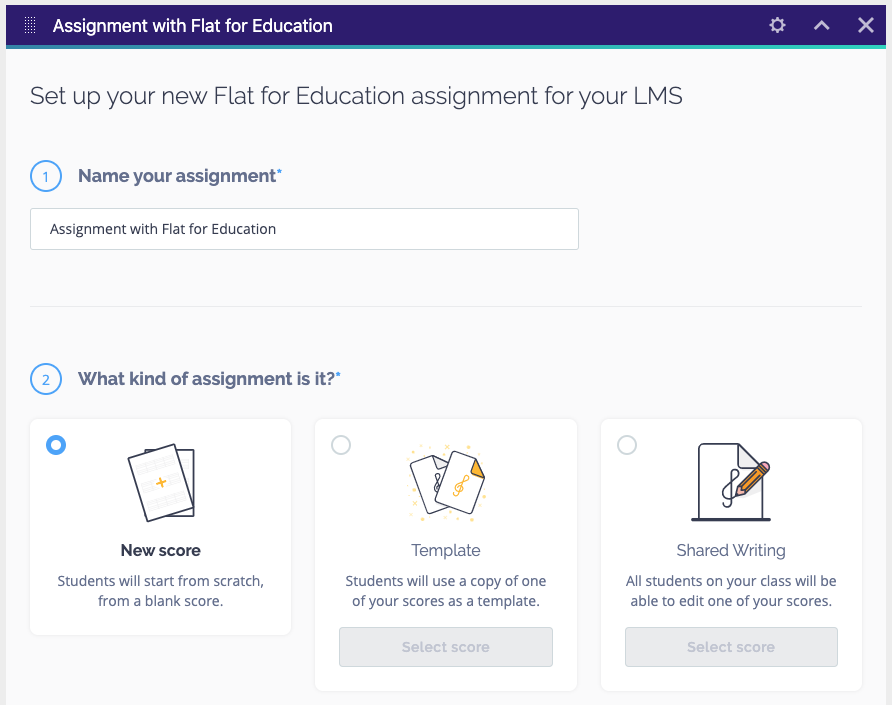 Complete assignment setup in Schoolbox