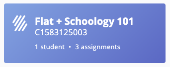 Automatic rostering from Schoology